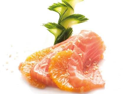 Суши Сьомга с портокал, сашими