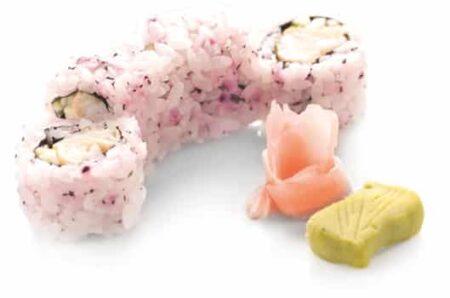 Суши Урамаки калмар темпура в юкари ориз 4 броя