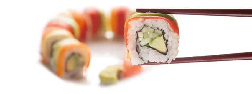 Суши Урамаки Зеленчуков Рейнбоу 8 броя