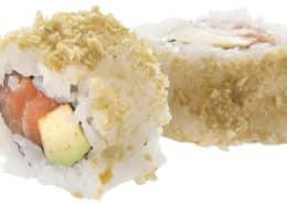 Суши Сьомга с уасаби грах 4 броя